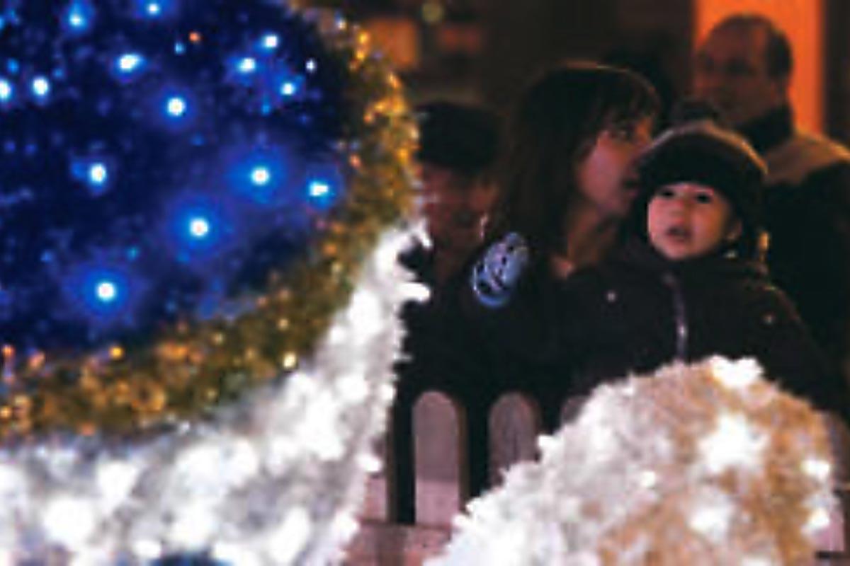 Detalle inauguración de iluminación navideña
